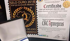 CBC Recebe o Prêmio Top de Qualidade Brasil 2018
